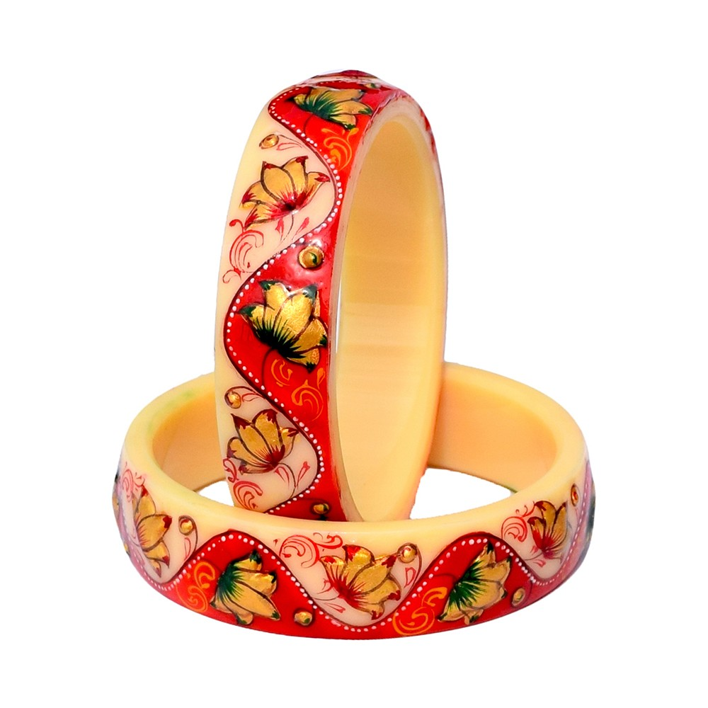 Antique Traditional handmade hand painted Indian Bangles for women