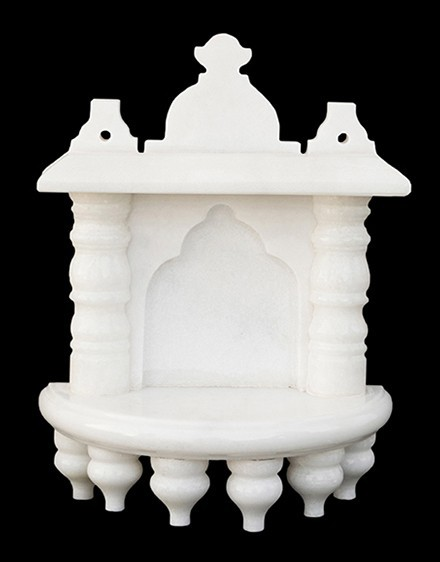 White Marble Home Temple Pooja Mandir small size 8 inches