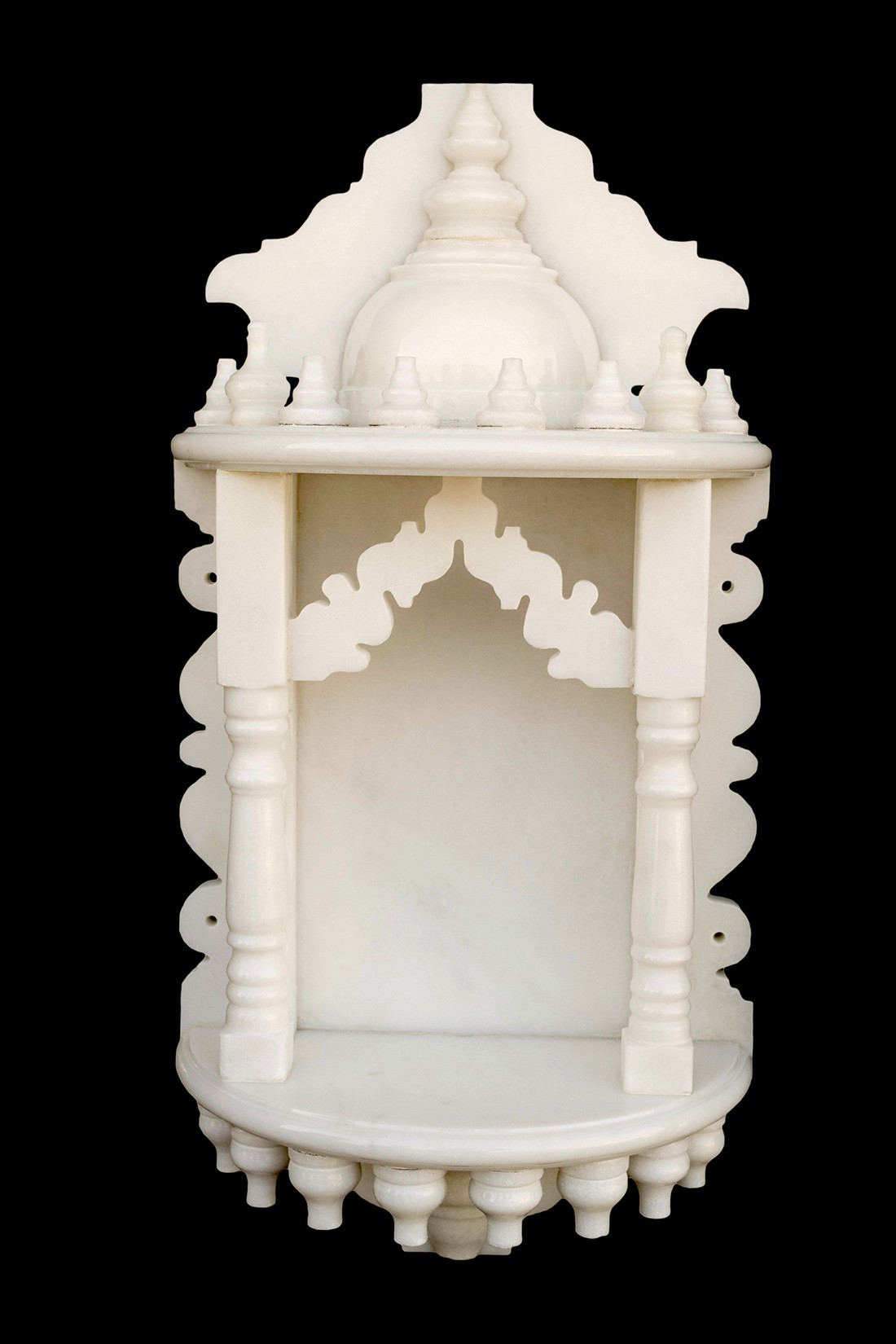 White Marble Home Temple Pooja Mandir small size 18 inches