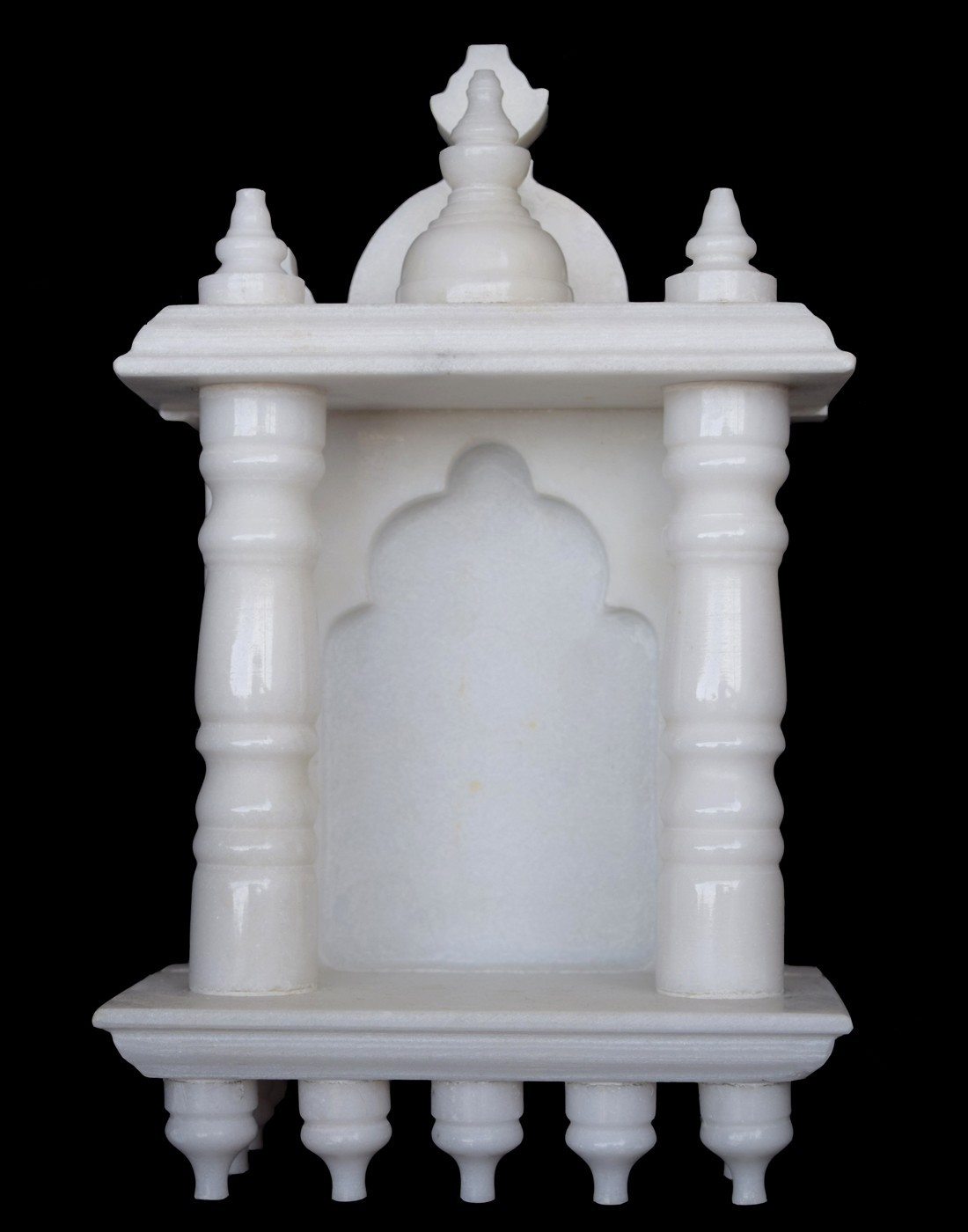 White Marble Home Temple Small Size 10 inches