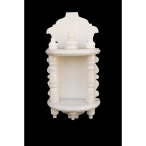 White Marble Home Temple Pooja Mandir small size 12 inches