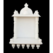 White Marble Home Temple Pooja Mandir small size 13.5 inches