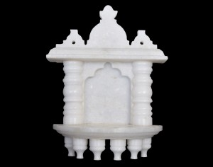 White Marble Home Temple Small Size 7.5 inches