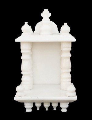 White Marble Home Temple Pooja Mandir small size 10.25 inches